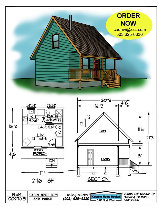 C0276b cabin plan details for Cabin plans 123