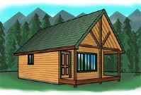 Cabin plans at cabinplans123 Many great cabin plans money back