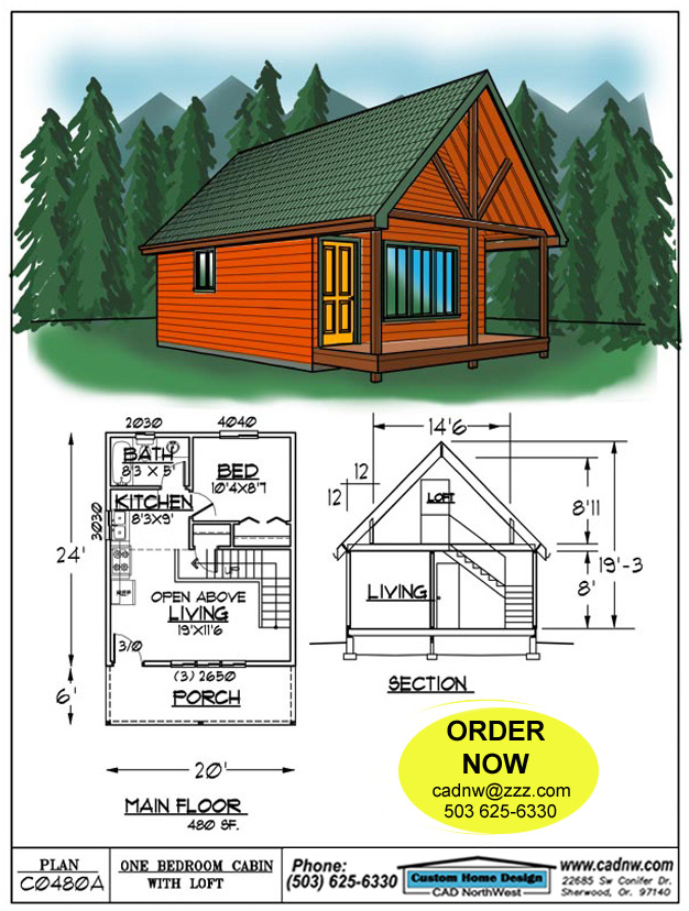 C0480a cabin plan details for Free small cabin plans with loft