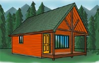 Cabin plans at cabinplans123. Many great cabin plans, money back