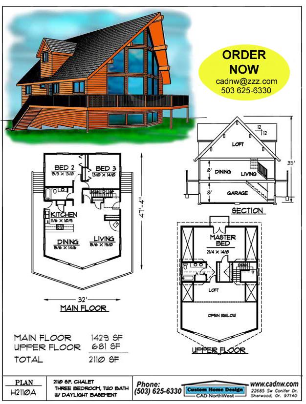 H2110a cabin plan details for Cabin plans 123